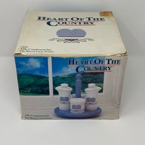 Vintage 1987 Canister Set Lazy Susan New in Box